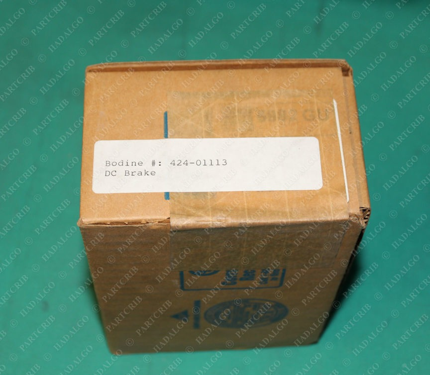Chain Tail Co., CD-LS-0.2, 12401083-A, Bodine 424-01113, DC Electric magnetic Mag Brake 24VDC 9.3W