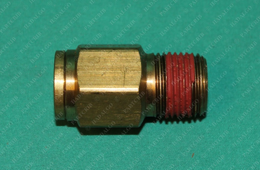 """Parker, 5/8 OD, VS68PMT, 68PMT-10-8 1/2 NPT .5"""" Press Push in to fit Compression Tubing Tube Pipe Brass Fitting"""