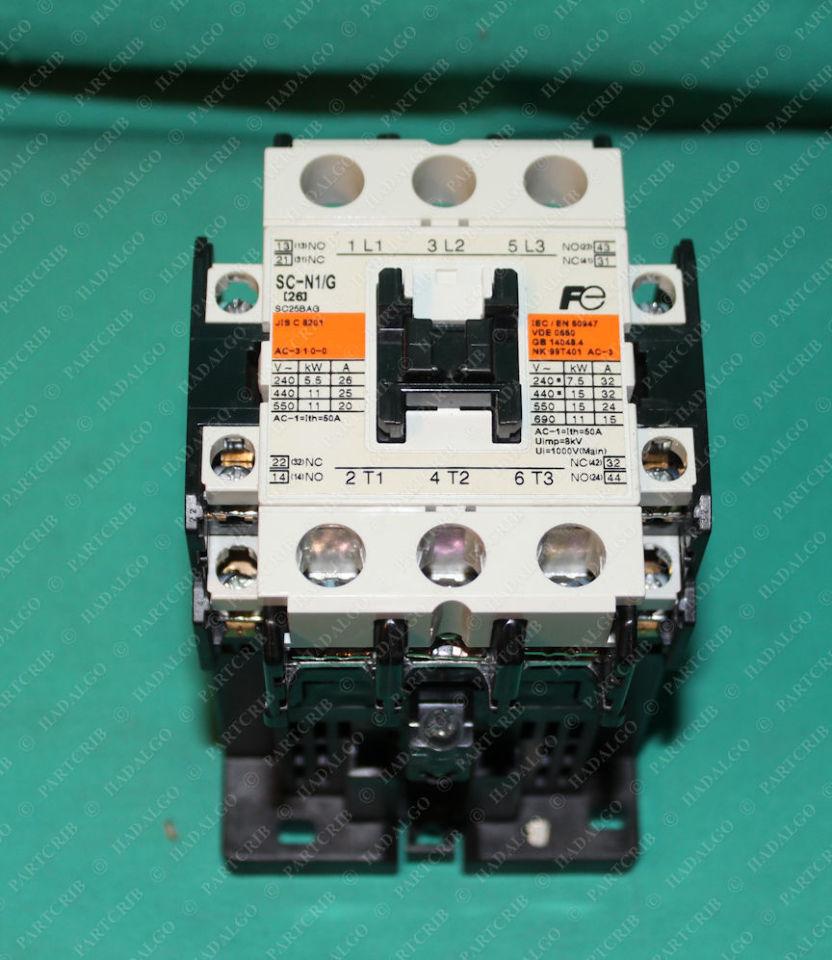 Fuji Electric, SC-N1/G, SC-N1-G, Contactor Relay Starter 24vdc Coil