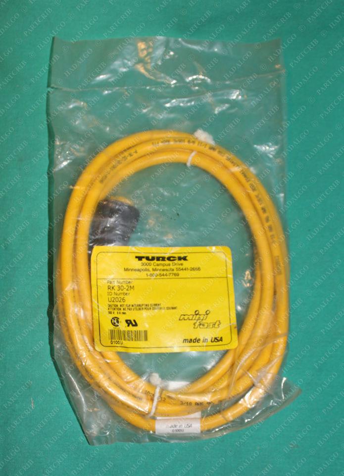 Turck, RK 30-2M, U2026, Minifast Cordset Cable 3p 3 Pin Female
