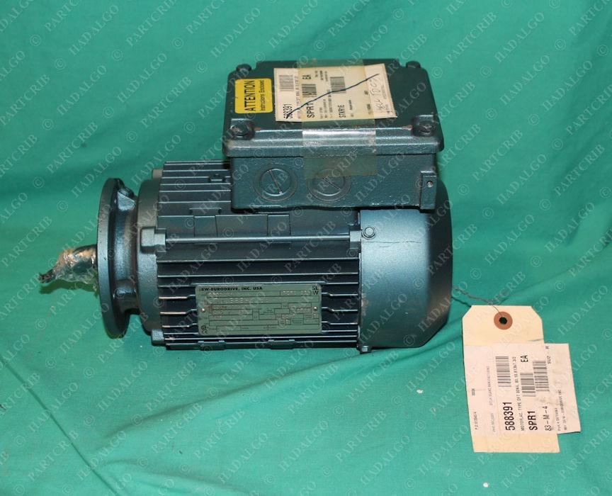 Sew Eurodrive, DFT80K4, Gear Motor .75hp 3/4hp 1700rpm TEFC 3PH