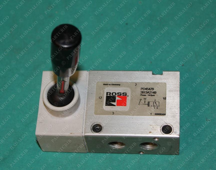 Ross, 2813A2140, PD45479, Manual Directional Pneumatic Valve Parker