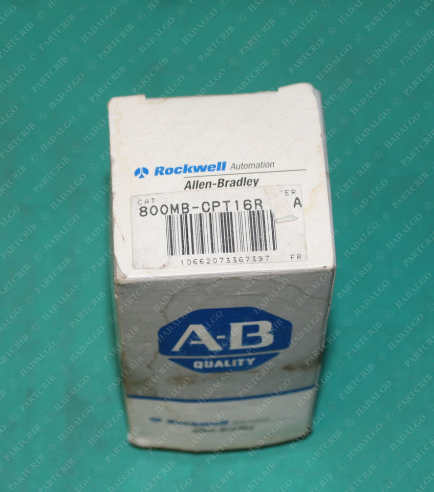 Allen Bradley, 800MB-CPT16R, Pilot Light Red Push Button Lamp