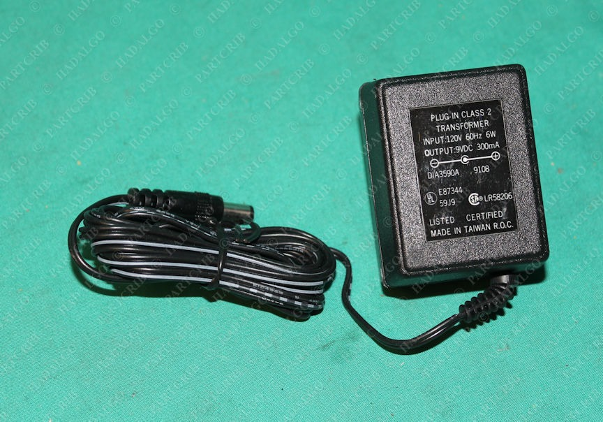 DIA3590A , Plug In Transformer Power Adapter 120V 9VDC 9 Volts DC 200ma