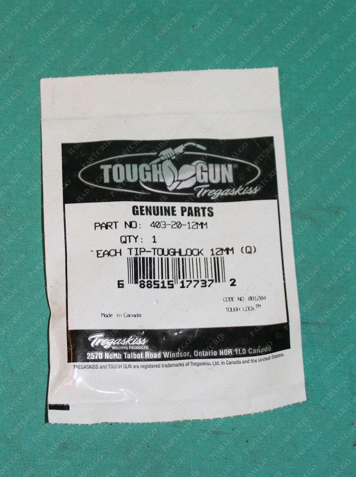 Tregaskiss, 403-20-12MM, Welding Weld Toughlock Contact Tip Silver 12mm