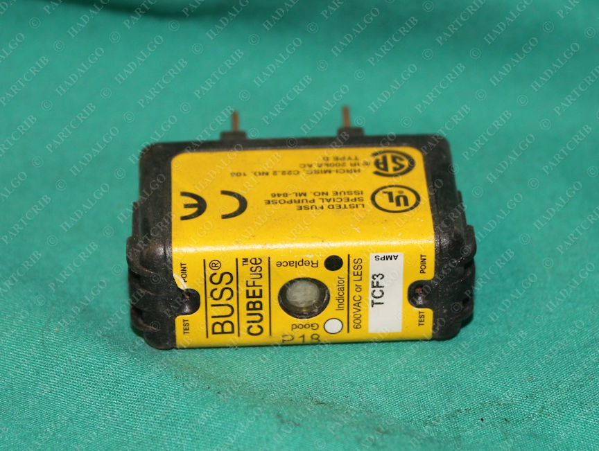 Bussmann, TCF3, Bussman Cooper 3a Cube Element Time Delay Fuse 600VAC 300VDC