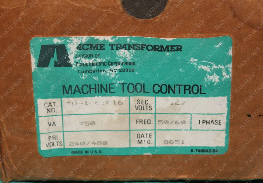 ACME, TA-1-81216, Transformer 750VA .75kv 50/60HZ