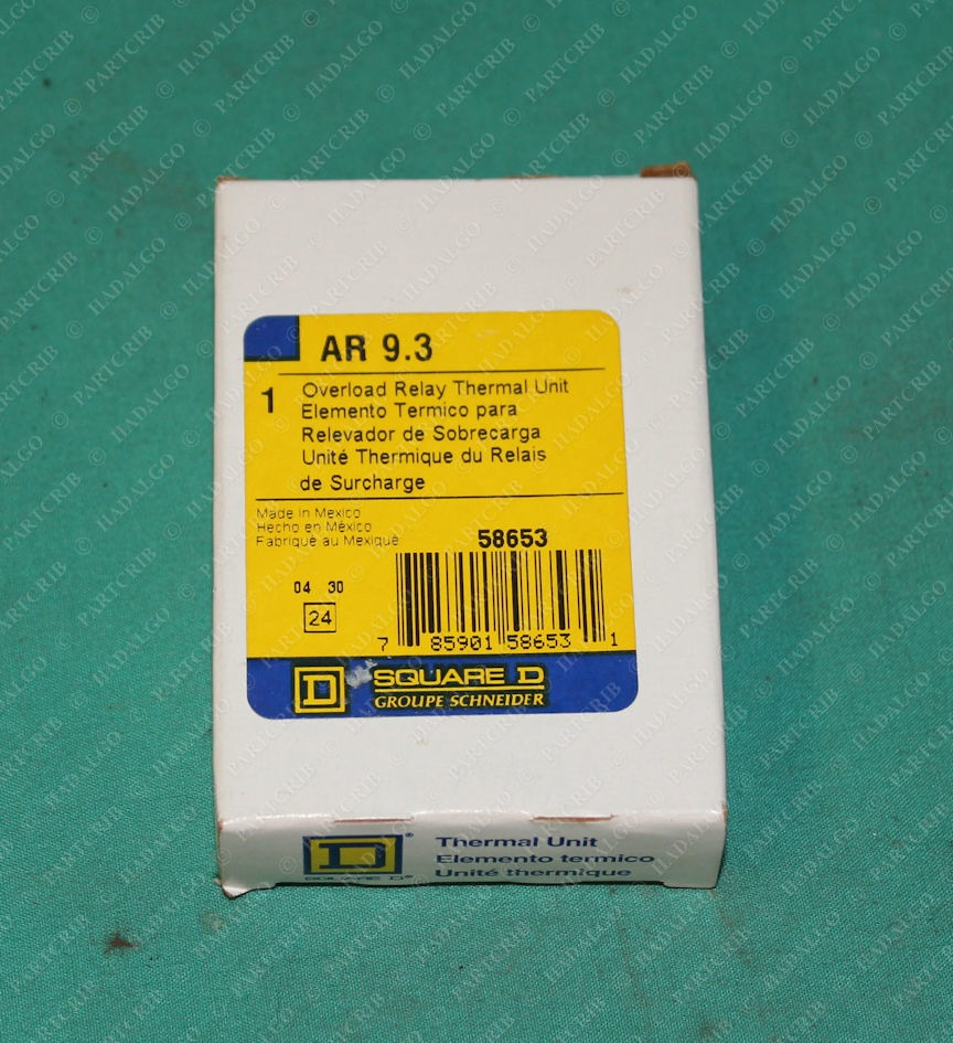 Square D, AR 9.3, Overload Relay Thermal Unit Heater