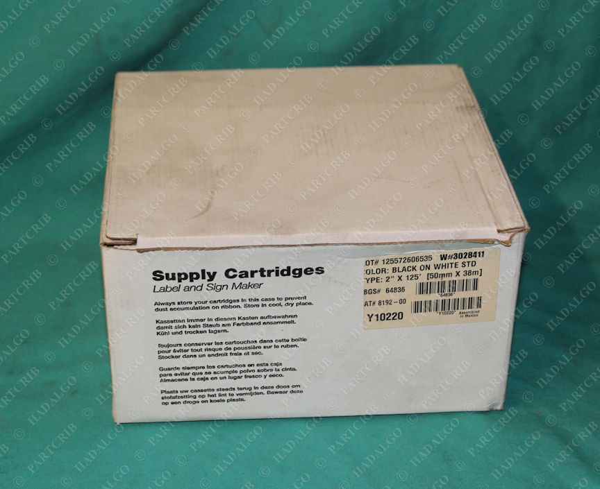 "Brady, 8192-00, Black on White Supply Cartidges 2"" x 125'"