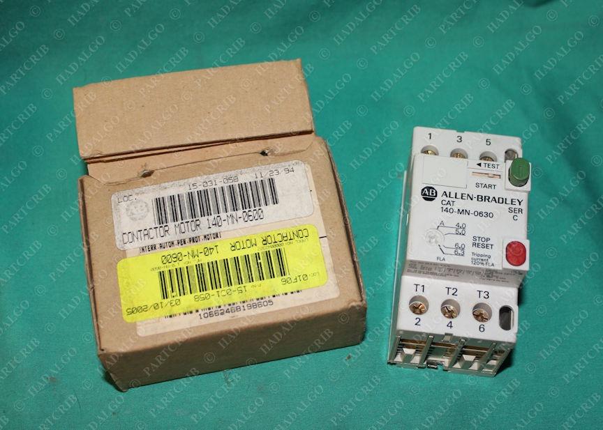 Allen Bradley, 140-MN-0630, Contactor Motor, 4-6Amp, 480V, 1.5kW Starter, Ser. C