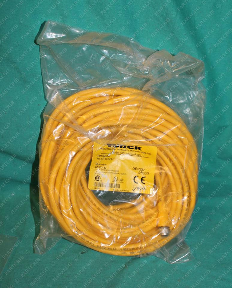 Turck, RKC4.4T-15-RSC 4.4T, U5303-20, Eurofast Cordset Cable 4p 4 Pin Extension