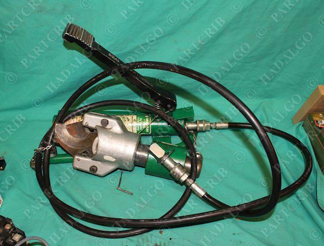 Greenlee 1725 Hydraulic Foot Pump Cable shear cutter Head Hose Unit ...