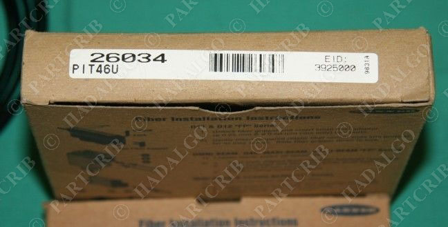 Banner PIT46U 26034 glass fiber optic cable NEW