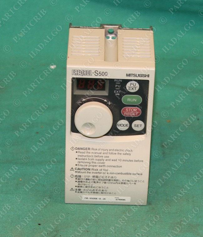 mitsubishi fr s520e 0 1k freqrol s500 inverter motor drive new ebay rh ebay com mitsubishi s500 inverter manual mitsubishi a500 manual