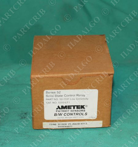 Ametek, 5200-LF1, 52-1101, BW Controls Solid State Control Relay NEW