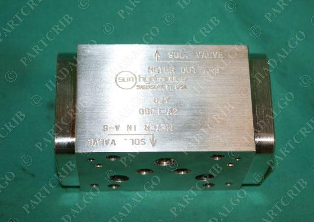 Sun Hydraulics, DJY OBE I-A2, QBEI Solenoid Valve Manifold Block S56679  44900 10