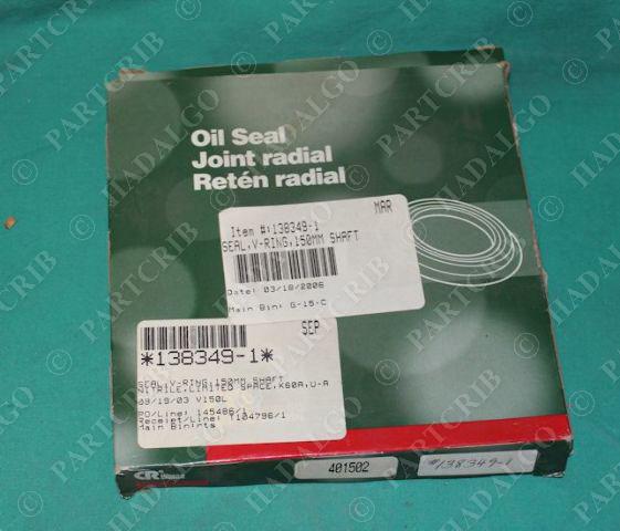 Chicago Rawhide, 401502, V-Ring Seal 150mm Shaft Forsheda V-150L NEW