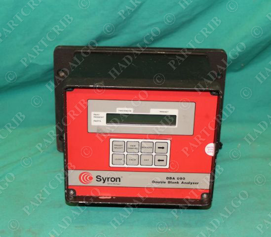 Syron, DBA090, Double Blank Analyzer 24VDC Repaired