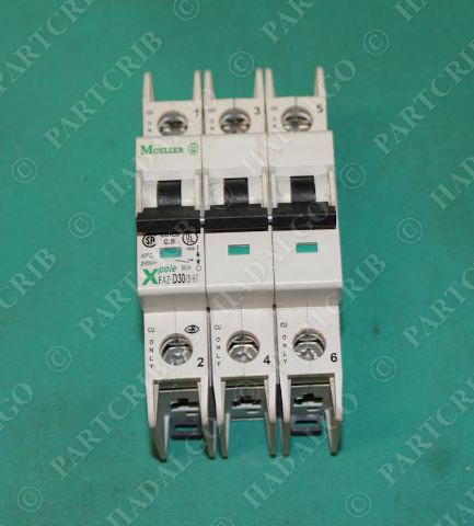 Moeller, FAZ-D30/3-RT, 3Pole Circuit Breaker