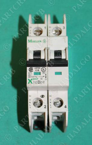 Moeller, FAZ-D3/2-RT, XPole Circuit Breaker