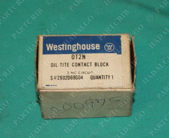 Westinghouse, OT2N, 0T2N, Oil Tite Contact Block