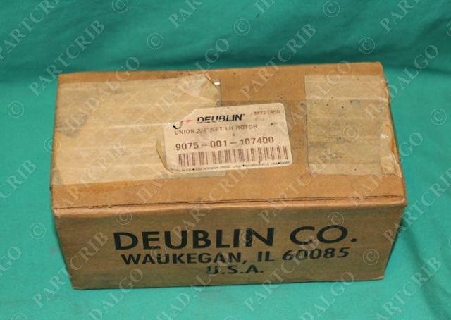 """Deublin, 9075-001-107400, Union 3/4"""" NPT LH Rotor Hydraulic Rotary Fitting NEW"""