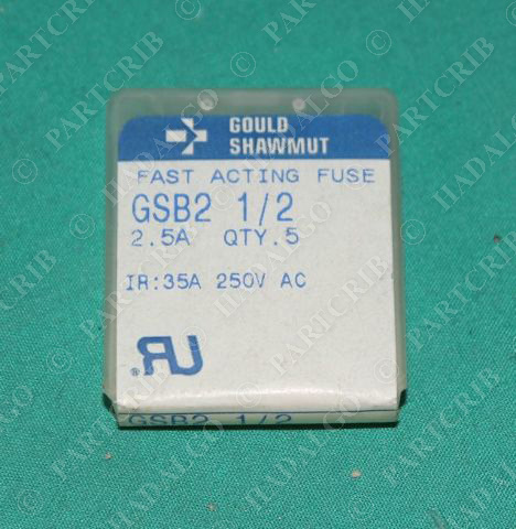 Gould Shawmut, GSB2, Fast Acting Fuse 2.5A