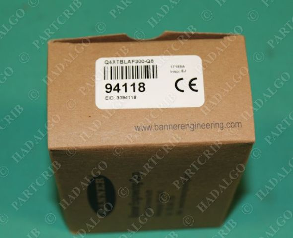 Banner, Q4XTBLAF300-Q8, 94118, Laser Sensor Photoelectric Switch