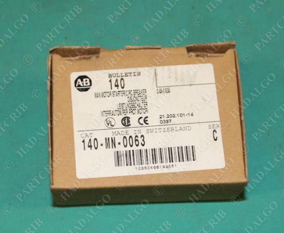 Allen Bradley, 140-MN-0063, Motor Overload Circuit Breaker 0 4A-0 63A