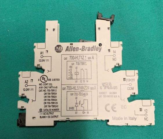 Allen dley, 700-HLT1Z, WIring Wire Block Terminal Relay Base on