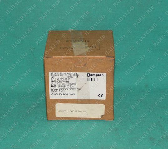 Crompton, 68A7614C60SFAAAB00, 012-01NA-Z3ZC-B3-ST, Panel Meter Precent Power 375%