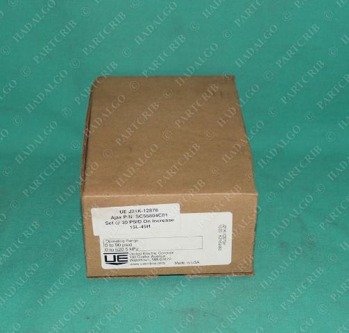 United Electric, SC55804C01, J21K-12878, UE Differential Pressure Switch Controls