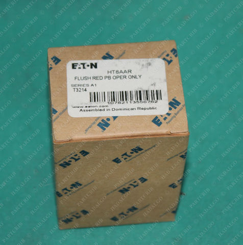Eaton, HT8AAR, T3214, Flush Red Push button Operator Only Stop