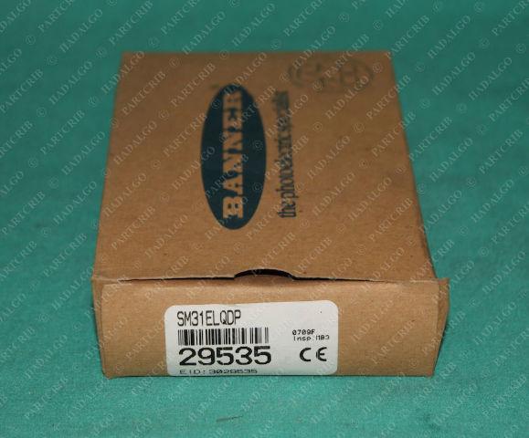 Banner, SM31ELQDP, 29535, Mini-Beam Photoelectric Sensor