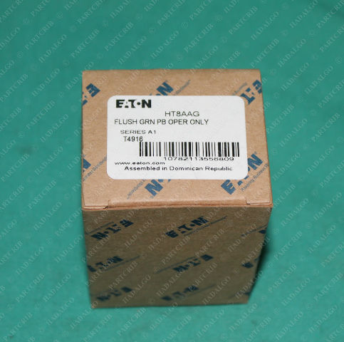 Eaton, HT8AAG, Flush Green Push button Operator Cutler Hammer Switch