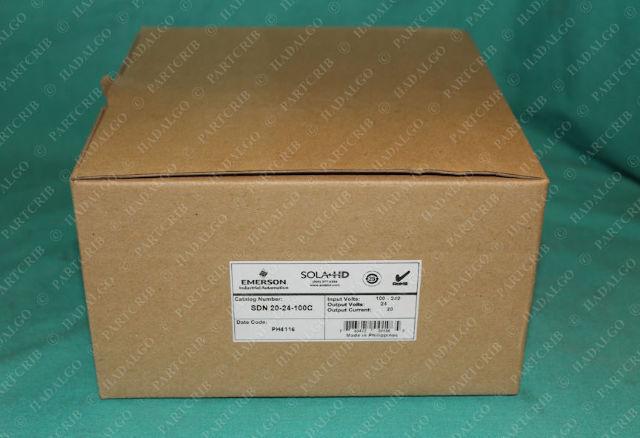 Emerson Sola, SDN 20-24-100C, SDN20-24-100C, Power Supply 24v 24 Volts DC