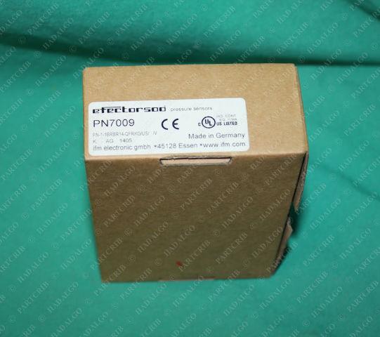 IFM, PN-1-1BRBR14-QFRKG/US/ /V, PN7009, Efector Pressure Sensor Switch Transducer