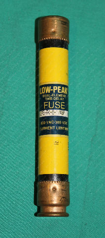 Bussmann, LPS-RK-6-1/4SP, Low Peak Time Delay Fuse Cooper Buss 6.24 6 1/4a