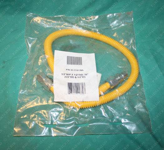 "Brass Craft, 30-3132-36A, WP013, Flextron Flexible Dryer Appliance Yellow Gas Line Hose 5/8"" OD X 36"" Length"