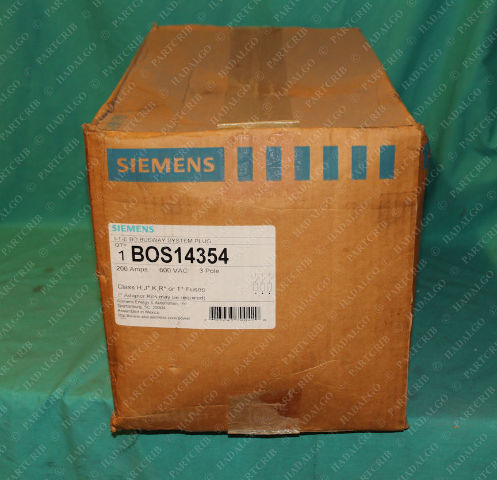 Siemens, BOS14354,  ITE BD Busway Buss Plug System Plug 200A 600VAC 3Pole