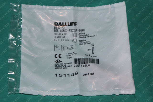 Balluff, BES M08ED-PSC25F-S04G, BES01P3, Proximity Switch Sensor Inductive