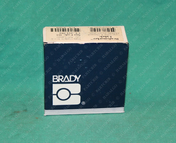 Brady, CL-311-502, 32459, Marking Label Size 311 Wire Markers Tag
