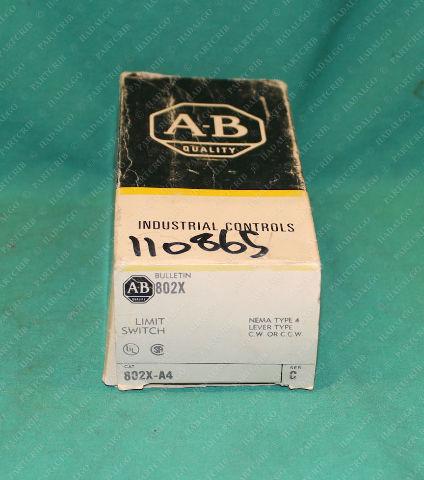 Allen Bradley, 802X-A4, Limit Switch Nema Type 4 Sealed Rotary Sensor