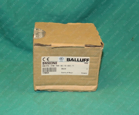 Balluff, BNS816-X786-B06-00-12-610-11, BNS03N0, 82089P002, Limit Switch Non Contact Z-Ring