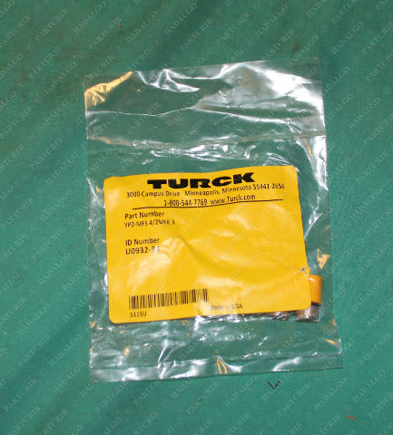 Turck, YP2-MFS4/2MFK3, U0932-33, 705547-1, Pico Connector Splitter Y 3p 3 Wire