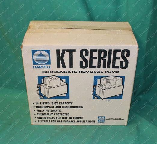 Hartell, KT3X-1ULT, 801132, Condensate Removal Pump w Broken Piece