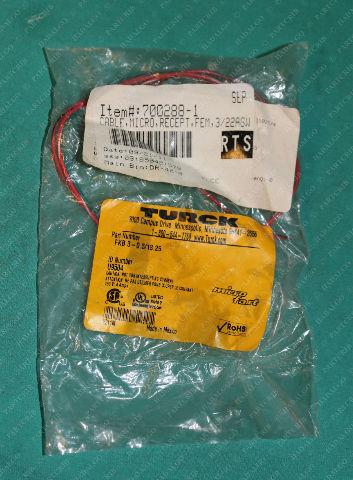 Turck, FKB 3-0.5/13.25, U9504, Microfast Cable Receptacle Panel Mount Female Plug