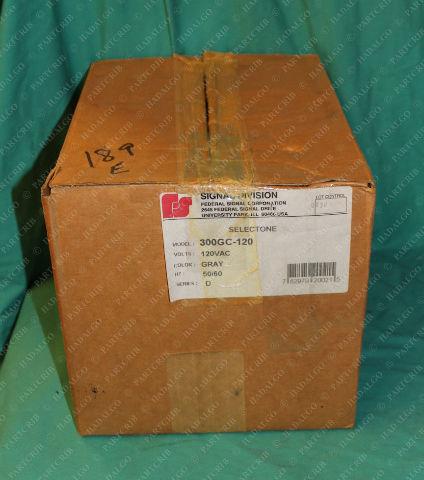 Federal Signal, 300GC-120, Selectone Audible Signal Loud Speaker Horn120VAC Gray