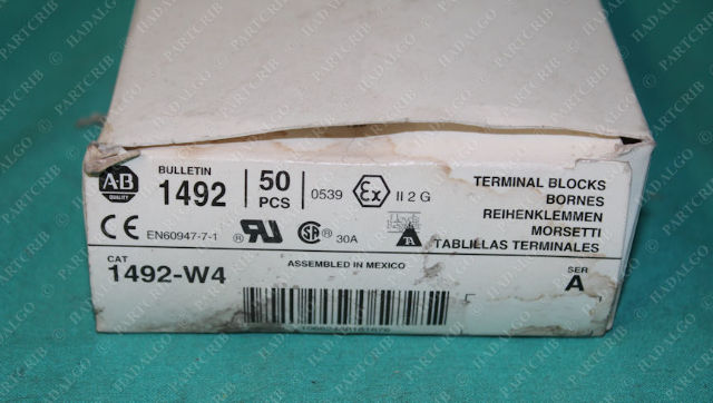 Allen Bradley, 1492-W4, 6x45.3x35mm, Single Circuit, Terminal Block (30pcs)