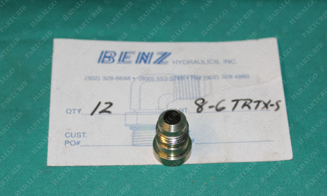 Benz Hydraulics, 8-6TRTX-S, Triple Lok 37° 37 Degree Tube End Reducer Parker